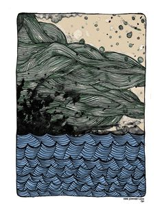 Ocean and Waves Print $16