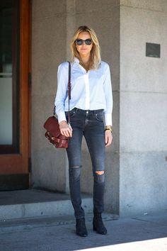Street Style - Stockholm Spring 2015 - Harper's BAZAAR.  Proenza Schouler bag