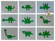 Súper PT: Domingos Montessori: Construimos... Dinosaur Projects, Dinosaur Crafts, Dinosaur Theme Preschool, Preschool Activities, Toddler Crafts, Crafts For Kids, Two Years Old Activities, Rock And Pebbles, English Activities