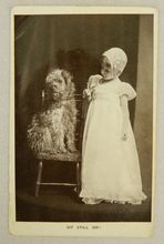 Victorian Postcard Dog With Child
