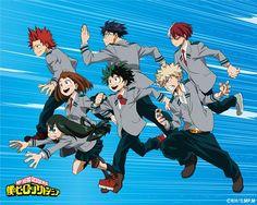 Boku no Hero Academia (Izuku Midoriya, Katsuki Bakugou, Ochako Uraraka, Tsuyu Asui, Minoru Mineta, Tenya Lida) - Minitokyo