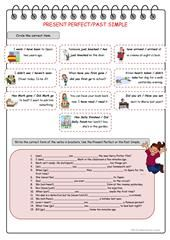 Mixed tenses, 2 pages (key included) worksheet - Free ESL printable worksheets made by teachers