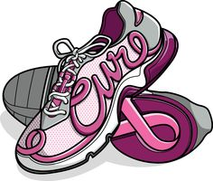 pink cure running shoes
