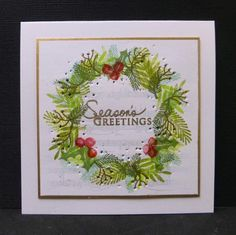 CAS294 HYCCT1413 TLC503 Wreath by hobbydujour - Cards and Paper Crafts at Splitcoaststampers