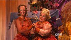 Cousin Gert (Melissa McCarthy) and her muscular arms join Dooneese (Kristen Wiig)   SNL