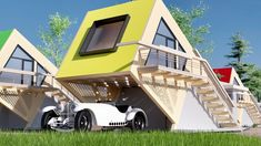 Architecture Discover Vitezslav K. Modern Tiny House, Tiny House Cabin, Cabin Homes, Tiny Mobile House, Triangle House, A Frame House Plans, Ultra Modern Homes, 21st Century Homes, Casas Containers
