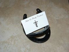 Horseshoe business card holder. by FaithFamilyCreationz on Etsy
