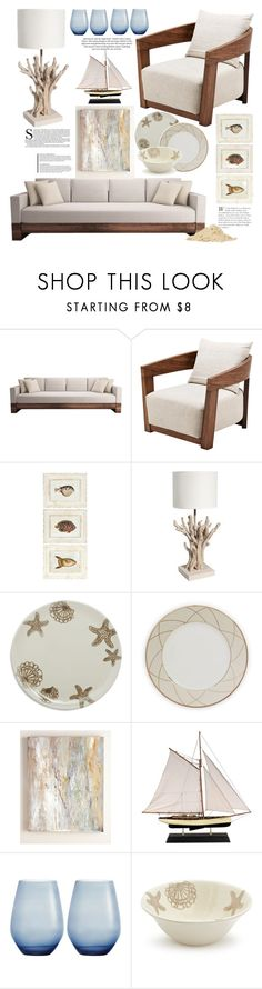 """""""Vacation Vibes: Dream Beach House"""" by bklana ❤ liked on Polyvore featuring interior, interiors, interior design, home, home decor, interior decorating, Eichholtz, Sur La Table, Haviland and Authentic Models"""