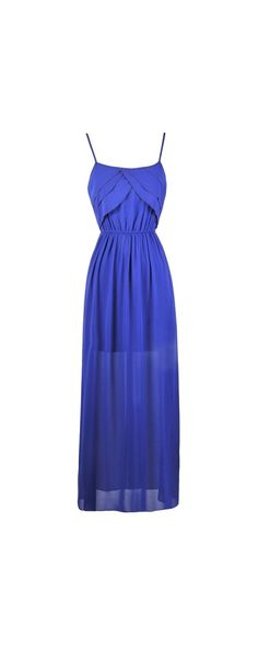 Lily Boutique Tier Up Beaded Ruffle Maxi Dress in Royal Blue, $38 Blue Beaded Maxi Dress | Maxi Dress Online | Summer Dress www.lilyboutique.com