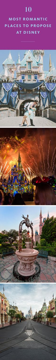 10 most romantic places to propose at disney