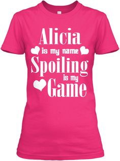 Alicia Is My Name Heliconia T-Shirt Front