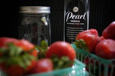 Two of my favorites combined! Strawberry infused vodka! Could probably do it with other fruits too.