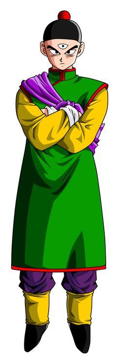 Tenshinhan es un luchador de artes marciales perteneciente a la raza de los tríclopes