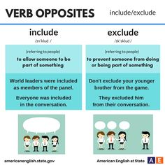 Verb Opposites: include / exclude