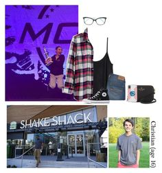 """Saturday {evening} // Shake Shake with Christian"" by those-families ❤ liked on Polyvore featuring H&M, Abercrombie & Fitch, Madewell, Converse, Kate Spade, Tiffany & Co. and kalanaiAshleigh"