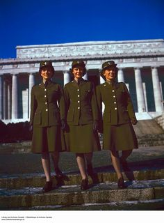 vintage everyday: Beautiful Color Pictures of Canadian Women's Army Corps during The World War II