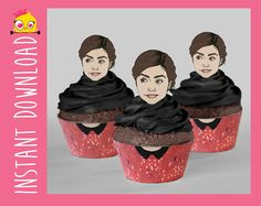 Dress Up Your Cupcakes with Doctor Who Wrappers and Toppers