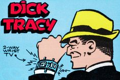 How Dick Tracy Invented the Apple Watch Apple's CEO says he's been dreaming of unveiling a gizmo like the one in the comic strip since he was a kid. This is the true story of the unknown inventor who created Dick's watch. Comic Book Characters, Comic Books, Comic Art, Apple Watch, Detective, Detroit, Consumer Technology, Going To Rain, Fiction Movies