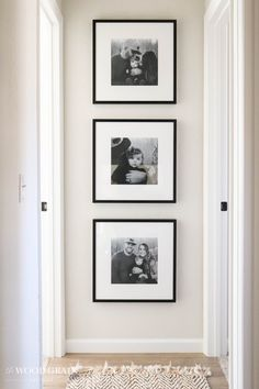 Family Pictures In The Hallway - The Wood Grain Cottage