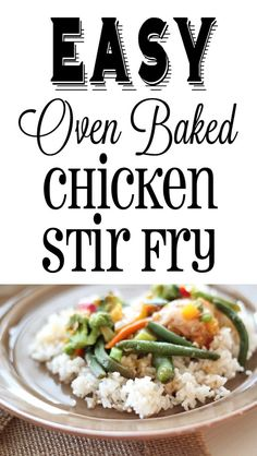 Yummy!  This looks so easy and healthy! Chicken Oven Baked Stir Fry
