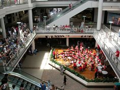 Entertainment on Center Stage at Ala Moana Center, Honolulu, Hawaii.