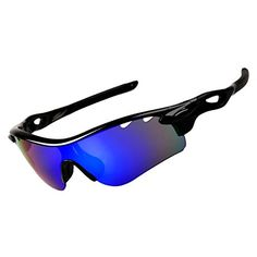60f7d5aceed Yufenra Polarized Sports Sunglasses for Cycling BlackBlue Blue     Visit  the image link more details. (Note Amazon affiliate link)