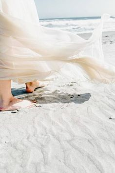 It feels so good to be bare foot on the beach