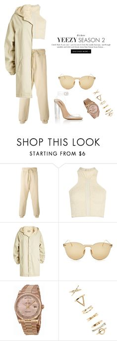 """""""Yeezy"""" by rarah-chan on Polyvore featuring moda, Yeezy by Kanye West, adidas, Illesteva, Rolex e Forever 21"""