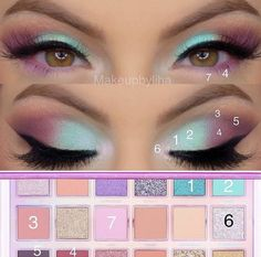 makeup tutorial for green eyes kylie jenner makeup with no face makeup eyeshadow huda beauty day makeup eyeshadow makeup makeup for red dress makeup tips Eye Makeup Steps, Makeup Eye Looks, Eye Makeup Art, Eyeshadow Makeup, Makeup Younique, Younique Eyeshadow, Face Makeup, Eyeliner, Alien Makeup