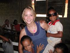 Jennifer Lawrence on a mission trip, before she was famous. :)