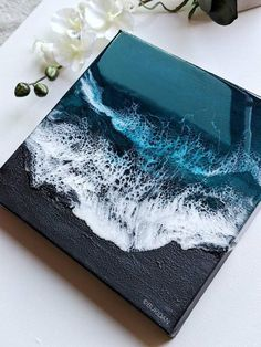 Resin black sand beach painting, Resin beach art, Resin ocean art, Black resin b – Epoxy Resin Black Sand, Black Ocean, Epoxy Resin Art, Resin Furniture, Peace Art, Pour Painting, Ocean Art, Acrylic Pouring, Resin Crafts