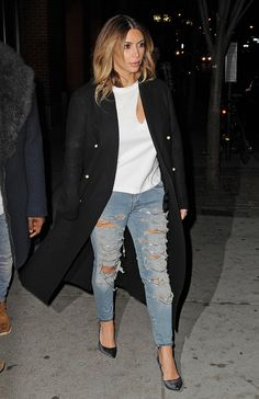 Must have trend this winter 2014 is the statement trench coat a la Kim Kardashian.