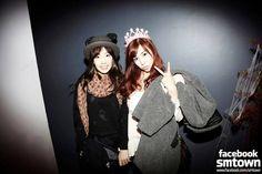 Snsd - Kim Taeyeon Taeng Taengoo Kidleader & Tiffany Hwang Miyoung #Taeny #TaeTif  #SMtown #facebook