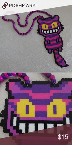 Gradient odesza kandi necklace every order comes with a free gift cheshire cat kandi necklace rave wear brand new never worn all of my items malvernweather Image collections