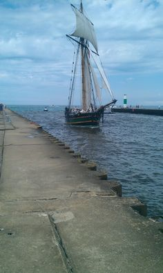 South Haven Michigan- Friends Goodwill Ship (War of 1812 replica ship).  Sailed on this in 2008.  Whoa!  Talk about a realistic return to the days of sail!  One woman was actually throwing up over the side...I thought it was an awesome ride!