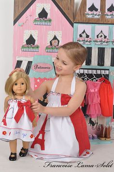 """My Trip To Paris 18"""" doll dress American Girl doll style or 23"""" doll. $35.00, via Etsy."""