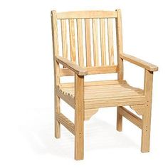The Pine Wood English Garden Chair from DutchCrafters Amish Furniture will add the beauty of pine wood and comfort of Amish-made quality to any outdoor space. Place it in your garden to watch the butterflies and bees gathering nectar and pollinating, around a firepit to enjoy s'mores and family time, or on the patio or porch to relax after a long dat at work. #outdoorchairs #comfortable #wooden #patio #lounge