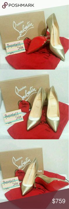 NIB CHRISTIAN LOUBOUTIN Ed Pigalle New In Box Authentic Christian Louboutin Limited edition Pigalle Follies 100 Laminato  Retail price $985 Comes with dust bag,replacement tips and box *Trade value $950 Christian Louboutin Shoes Heels