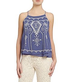 Blu Pepper Embroidered Top #Dillards
