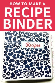 How to put together a simple recipe binder for your kitchen. Easily organize all of your recipes with this quick and simple organization project. #Organizing #Decluttering #organizingmoms Organizing Paperwork, Binder Organization, Organizing Ideas, Cord Management, Time Management Tips, Home Filing System, Recipe Binders, Paper Clutter, Organized Mom