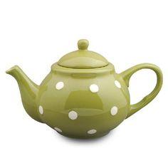 Green /white Dots Tea Pot