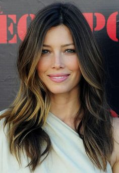 What do people think of Jessica Biel? See opinions and rankings about Jessica Biel across various lists and topics. What Is Ombre Hair, Ombre Hair Color, Hair Color Balayage, Hair Highlights, Hair Colour, Peekaboo Highlights, Subtle Highlights, Ombre Style, Highlights Underneath