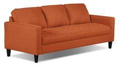 Living Room Furniture - Paris Linen-Look Fabric Sofa – Tangerine