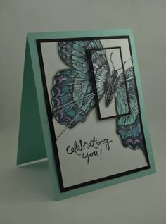 Spring Swallow card  paper cut and pasted handmade spring card  swallow card