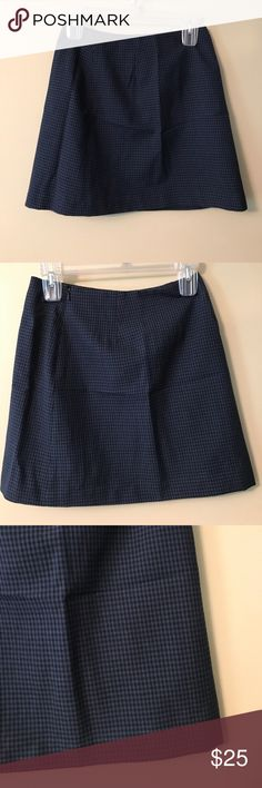 "J. Crew Wool Mini Skirt Size 4 J. Crew Mini Skirt. Size 4. Blue skirt with black lines.Lined. 💯 % Wool. Never Worn. Zippers in back. Measurements appropriately 13 1/ Waist, 15 3/8"" Length. Very light. 🚫trades. Please ask all questions prior to buying J. Crew Skirts Mini"