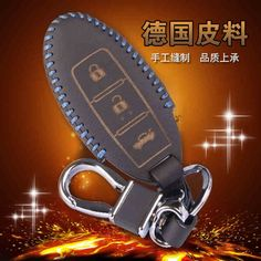 Wall Key Holder For Nissan Qashqai Sunny Sylphy Teana Tiida X-Trail Leather Keyring Case Cover 3 Button Leather Keychain Pouch #Affiliate