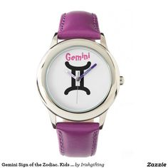 Gemini Sign of the Zodiac. Kids Watches. Wristwatches