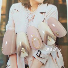 ネイル(No.2061445)|アースカラー |グレージュ |ピンク |ハンド | かわいいネイルのデザインを探すならネイルブック!流行のデザインが丸わかり!