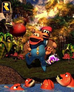 Donkey Kong 64, Donkey Kong Country, Super Smash Bros Characters, Video Game Characters, Super Nintendo, Heroes United, Pikachu Art, Super Mario Art, Retro Video Games