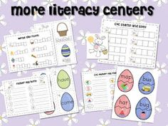 Mrs. Ricca's Kindergarten: Easter Math  Literacy Centers...and a FREEBIE!